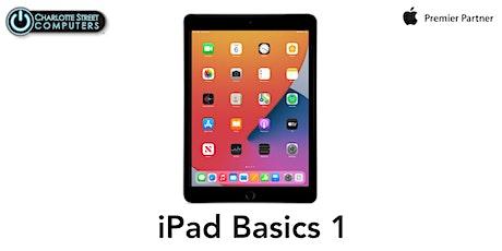 iPad Basics 1 - (iPadOS 13) tickets