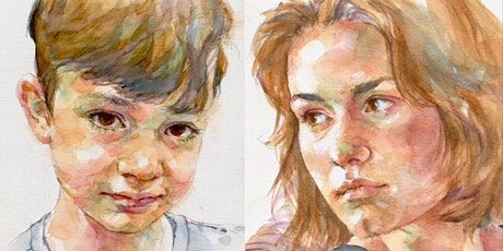 Feb 22,23,24 - Quick Sketch Watercolor Portraits - 3 Day Online Workshop tickets