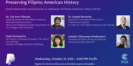 PayPal Rise Presents: Preserving Filipino American History tickets