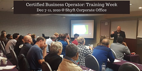CBO Training (Certified Business Operator) @ Shyft Capital tickets