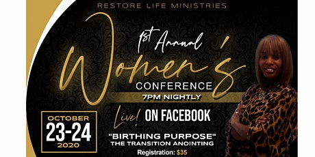 Restore Life Ministries 1st Annual Women's Conference tickets