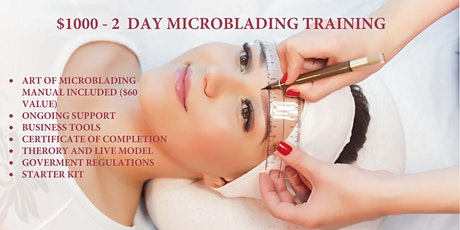 Microblading Training and Certificate tickets