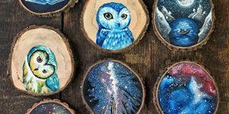 VIRTUAL Paint and Drink: Wooden Ornaments! tickets