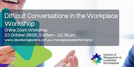 Difficult Conversations in the Workplace - 23 October 2020 tickets