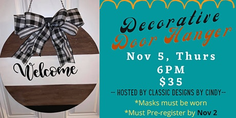 Decorative Door Hangers with Classic Designs with Cindy tickets