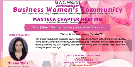 BWC Manteca Chapter Virtual Meeting tickets