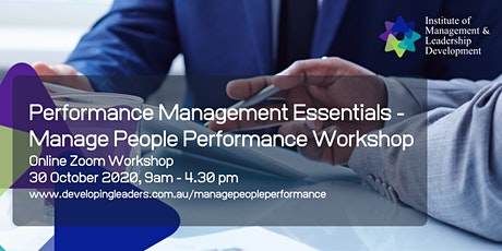 Performance Management Essentials - Manage People Performance - 30 October tickets