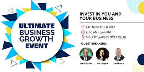 Ultimate Business Growth Event  – Everyone Welcome - Thu 5th Nov