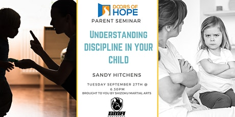 Understanding Discipline in your child tickets