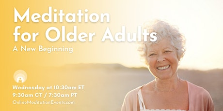 Meditation For Older Adults-Zoom Session tickets