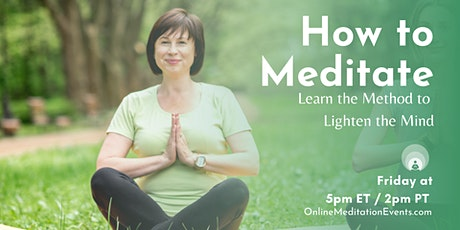 How To Meditate - Zoom Meditation Session tickets