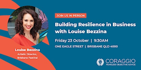 Building your business resilience with Louise Bezzina tickets