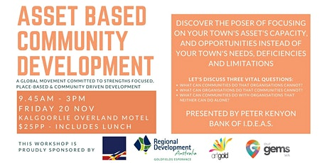 ABCD (Asset Based Community Development) Workshop with Peter Kenyon tickets