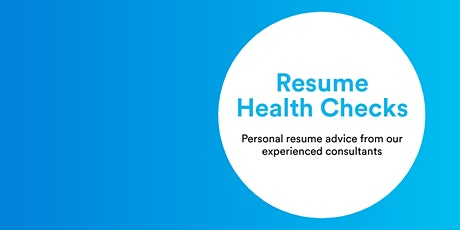 Resume Health Check Pop-up Event Friday November 6th 2020 tickets