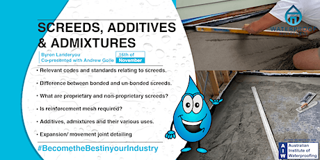 Screeds, Additives & Admixtures tickets