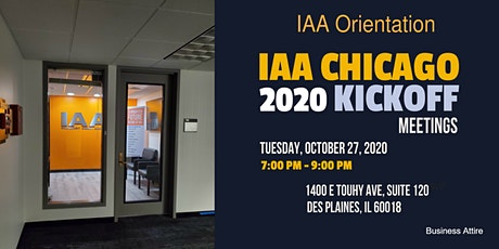 IAA Orientation tickets