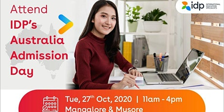 Attend IDP's Australia Admissions Day in Mangalore and Mysore - 26th Oct tickets
