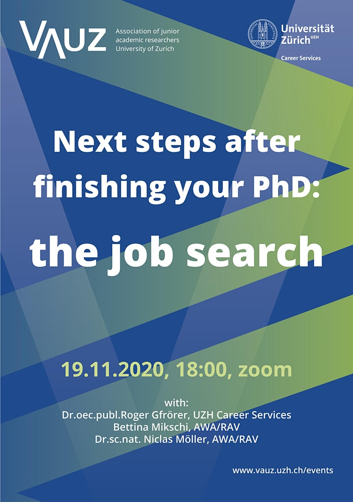 Next Steps after Finishing Your PhD: The Job Search: Bild