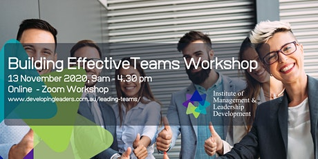 Building Effective Teams - 13 November 2020 tickets