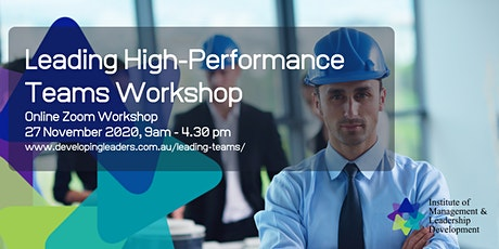Leading High-Performance Teams - 27 November 2020 tickets