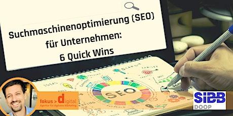 Suchmaschinenoptimierung (SEO) für Unternehmen: 6 Quick Wins Tickets