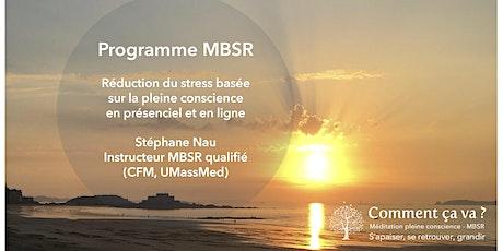 """Réunion d'information gratuite MBSR """"pleine conscience et stress"""" billets"""