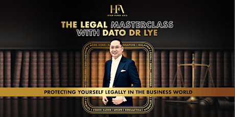 [31st Oct 2020] The Legal Masterclass with Dato WV Lye tickets