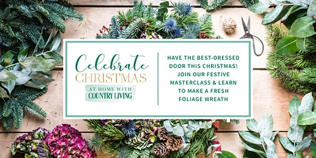 Make a gorgeous country-style Christmas wreath! tickets