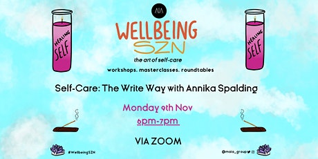 Self-care: The Write Way with Annika Spalding tickets