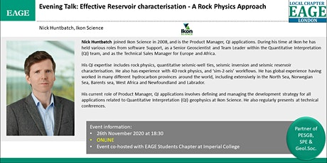 EAGE London: Effective Reservoir characterisation - A Rock Physics Approach tickets