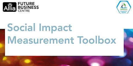 Social Impact Measurement Toolbox Workshop tickets