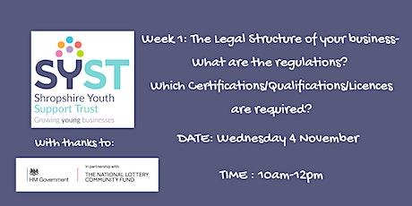 Legal Status & Legalities tickets
