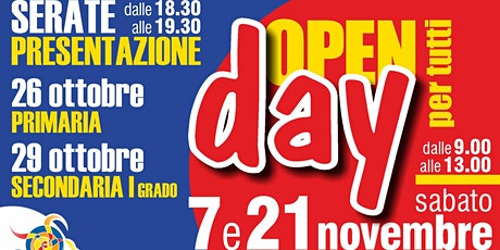 Open Day MEDIE - Sabato 21 Novembre dalle 9.00 alle 10.00 biglietti