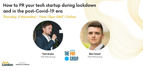 How to PR your tech startup during lockdown and in the post-Covid-19 era tickets