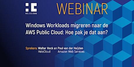 Windows Workloads migreren naar de AWS Public Cloud: Hoe pak je dat aan? tickets