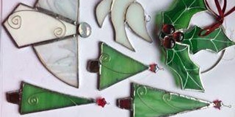 COPPER FOILED STAINED GLASS CHRISTMAS DECORATIONS