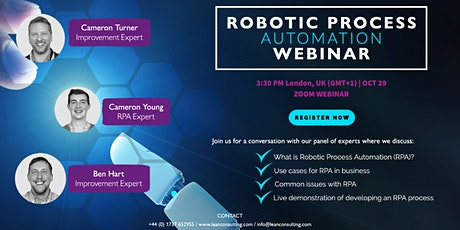 FREE Robotic Process Automation (RPA) Webinar tickets