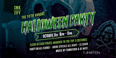 5th Annual Halloween Party at  Ink N Ivy Greenville tickets