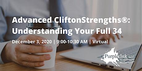 Advanced CliftonStrengths®: Understanding Your Full 34 (Virtual) tickets