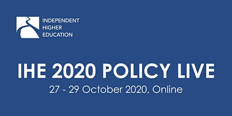 IHE 2020 Policy Live - Day Two. Session Four. tickets