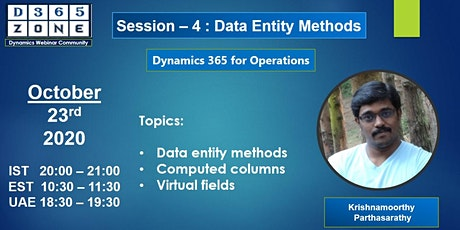 Session-4 Data Entity Methods tickets