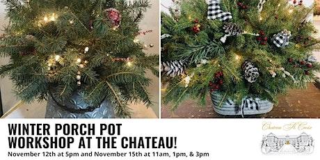 Winter Porch Pot Workshop tickets