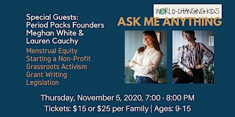Ask Me Anything - with Period Packs Founders Meghan and Lauren tickets