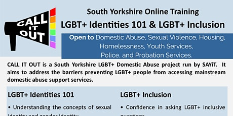 Call It Out Training: Part 2 LGBT+ Inclusion