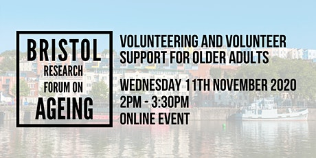 Volunteering and volunteer support for older adults tickets