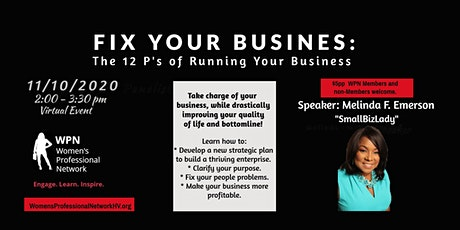 Fix Your Business:The 12 P's of Running Your Business tickets
