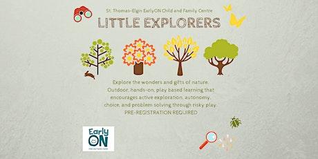 EarlyON Little Explorers (November 3 - Pinafore Park, St. Thomas) tickets