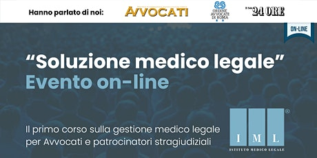 Soluzione medico legale evento on-line biglietti