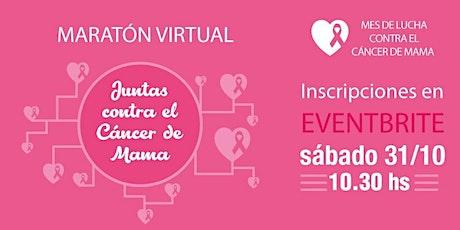 Maratón Virtual JUNTAS CONTRA EL CÁNCER DE MAMA entradas