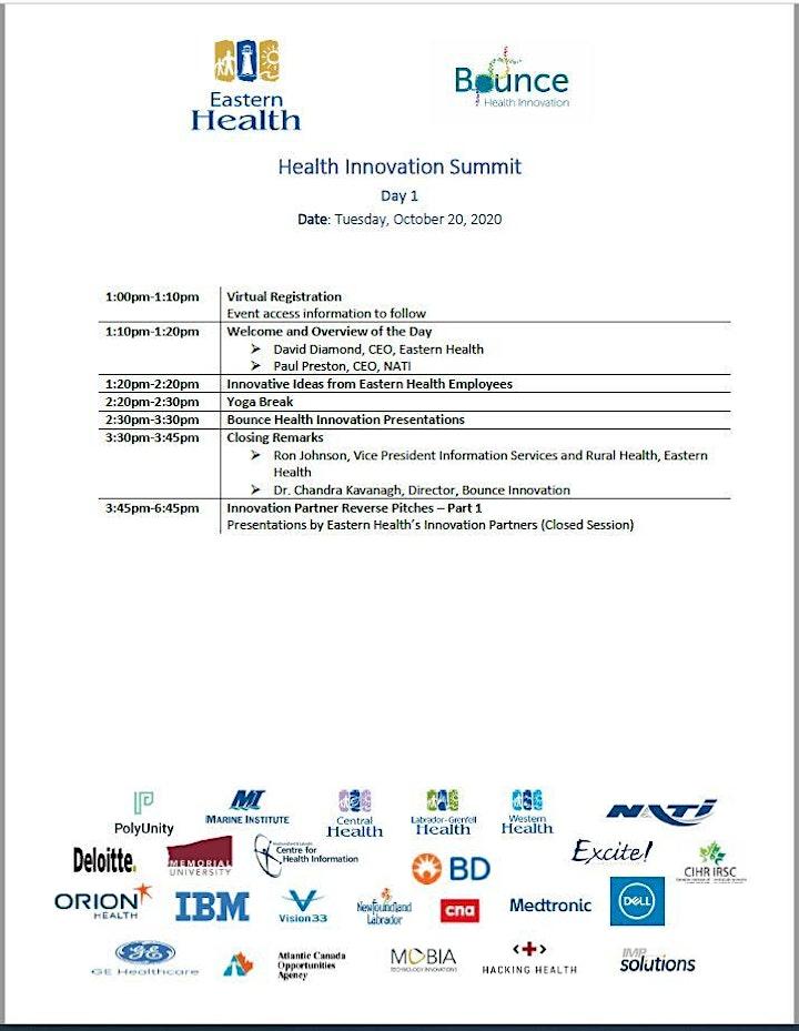 Day 2 - Eastern Health Innovation Summit image